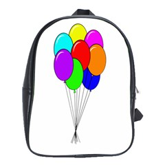 Colorful Balloons School Bags(large)  by Valentinaart