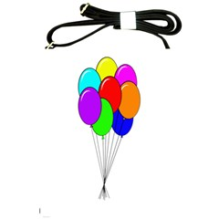 Colorful Balloons Shoulder Sling Bags by Valentinaart