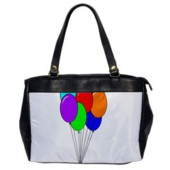 Colorful Balloons Office Handbags by Valentinaart