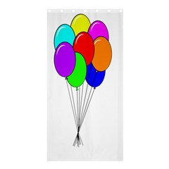 Colorful Balloons Shower Curtain 36  X 72  (stall)  by Valentinaart