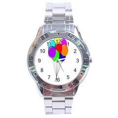 Colorful Balloons Stainless Steel Analogue Watch by Valentinaart