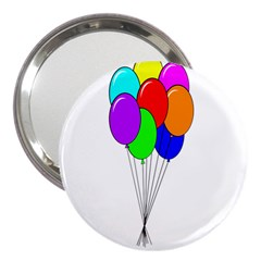 Colorful Balloons 3  Handbag Mirrors by Valentinaart