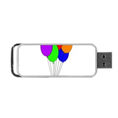 Colorful Balloons Portable Usb Flash (one Side) by Valentinaart