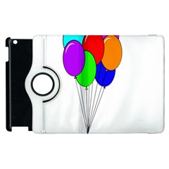 Colorful Balloons Apple Ipad 2 Flip 360 Case by Valentinaart