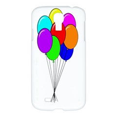 Colorful Balloons Samsung Galaxy S4 I9500/i9505 Hardshell Case by Valentinaart