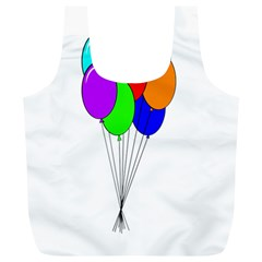 Colorful Balloons Full Print Recycle Bags (l)  by Valentinaart