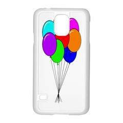 Colorful Balloons Samsung Galaxy S5 Case (white) by Valentinaart