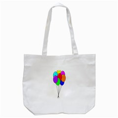 Colorful Balloons Tote Bag (white) by Valentinaart