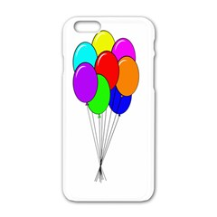 Colorful Balloons Apple Iphone 6/6s White Enamel Case by Valentinaart