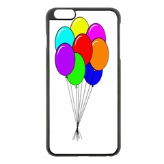 Colorful Balloons Apple Iphone 6 Plus/6s Plus Black Enamel Case by Valentinaart