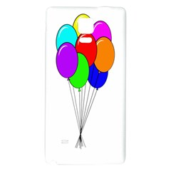 Colorful Balloons Galaxy Note 4 Back Case by Valentinaart