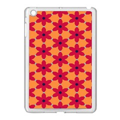 Red Flowers Pattern                                                                            			apple Ipad Mini Case (white) by LalyLauraFLM
