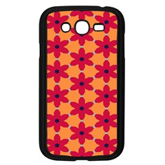 Red Flowers Pattern                                                                            			samsung Galaxy Grand Duos I9082 Case (black) by LalyLauraFLM
