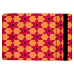 Red Flowers Pattern                                                                            			apple Ipad Air Flip Case by LalyLauraFLM