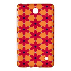 Red Flowers Pattern                                                                            			samsung Galaxy Tab 4 (7 ) Hardshell Case by LalyLauraFLM