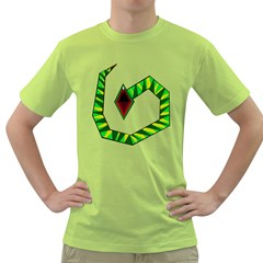 Decorative Snake Green T-shirt by Valentinaart