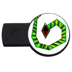 Decorative Snake Usb Flash Drive Round (4 Gb)  by Valentinaart
