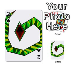 Decorative Snake Playing Cards 54 Designs  by Valentinaart