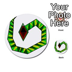 Decorative Snake Multi Purpose Cards (round)  by Valentinaart