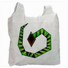 Decorative Snake Recycle Bag (one Side) by Valentinaart