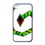 Decorative Snake Apple iPhone 4 Case (Black) Front
