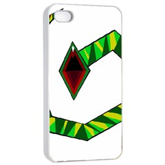 Decorative Snake Apple Iphone 4/4s Seamless Case (white) by Valentinaart