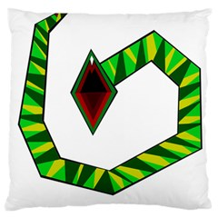 Decorative Snake Large Cushion Case (one Side) by Valentinaart