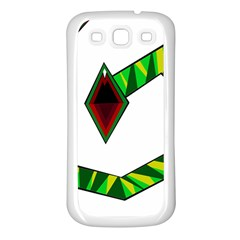Decorative Snake Samsung Galaxy S3 Back Case (white) by Valentinaart