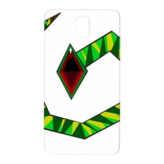 Decorative Snake Samsung Galaxy Note 3 N9005 Hardshell Back Case by Valentinaart
