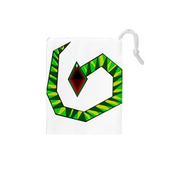 Decorative Snake Drawstring Pouches (small)  by Valentinaart