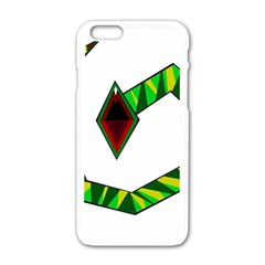 Decorative Snake Apple Iphone 6/6s White Enamel Case by Valentinaart