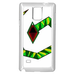 Decorative Snake Samsung Galaxy Note 4 Case (white) by Valentinaart
