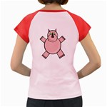 Pink Rhino Women s Cap Sleeve T-Shirt Back