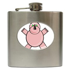 Pink Rhino Hip Flask (6 Oz) by Valentinaart