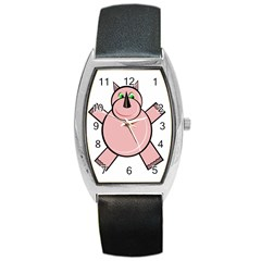 Pink Rhino Barrel Style Metal Watch by Valentinaart