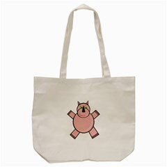 Pink Rhino Tote Bag (cream) by Valentinaart