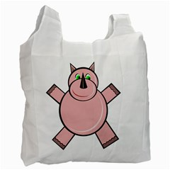 Pink Rhino Recycle Bag (two Side)  by Valentinaart