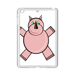 Pink Rhino Ipad Mini 2 Enamel Coated Cases by Valentinaart