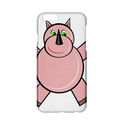 Pink Rhino Apple Iphone 6/6s Hardshell Case by Valentinaart
