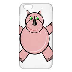 Pink Rhino Iphone 6 Plus/6s Plus Tpu Case by Valentinaart