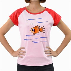 Cute Fish Women s Cap Sleeve T Shirt by Valentinaart