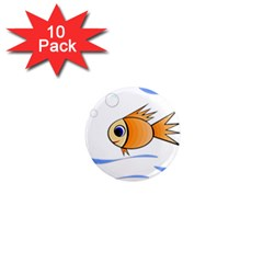 Cute Fish 1  Mini Magnet (10 Pack)  by Valentinaart