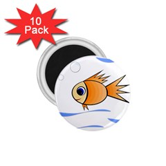 Cute Fish 1 75  Magnets (10 Pack)  by Valentinaart