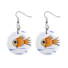 Cute Fish Mini Button Earrings by Valentinaart