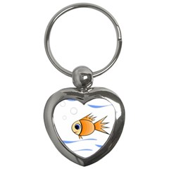 Cute Fish Key Chains (heart)  by Valentinaart