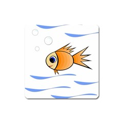 Cute Fish Square Magnet by Valentinaart