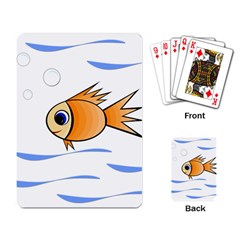 Cute Fish Playing Card by Valentinaart