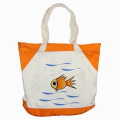 Cute Fish Accent Tote Bag by Valentinaart
