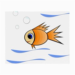 Cute Fish Small Glasses Cloth (2-side) by Valentinaart