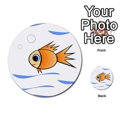 Cute Fish Multi-purpose Cards (round)  by Valentinaart